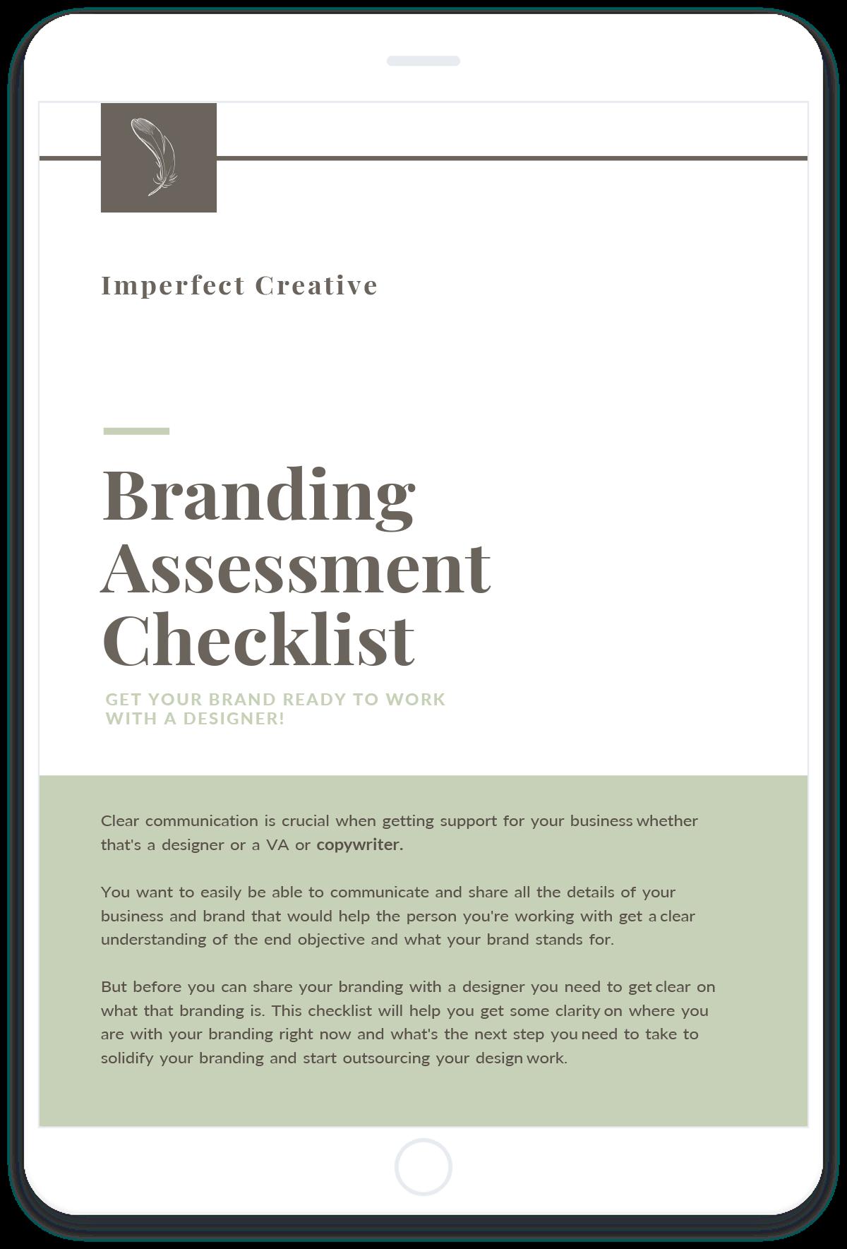 Branding Assessment Checklist